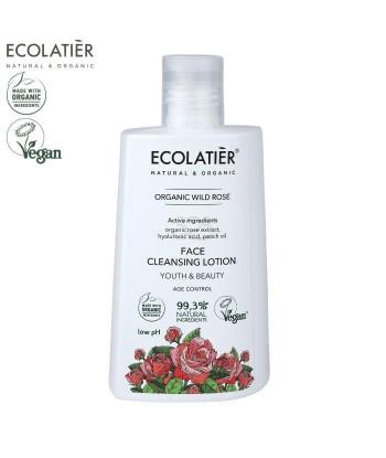 ORGANIC WILD ROSE Oczyszczające mleczko do twarzy AGE Control, 250ml ECOLATIER