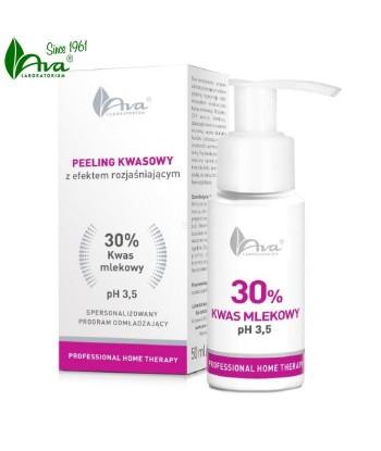 AVA PHT Peeling kwasowy z efektem rozjaśniającym Kwas mlekowy 30%, 50ml
