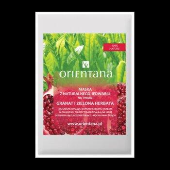 Maska tkaninowa - Granat i zielona herbata
