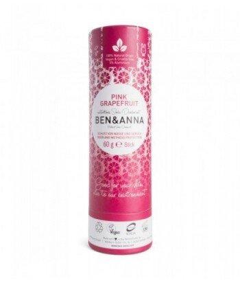 BEN&ANNA Naturalny Dezodorant na bazie Sody PINK GRAPEFRUIT (sztyft kartonowy) 0% Aluminium 60g