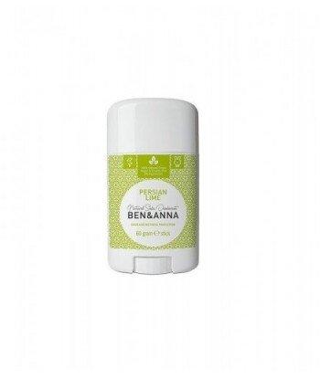 BEN&ANNA Naturalny Dezodorant na bazie Sody PERSIAN LIME (sztyft plastikowy) 0% Aluminium 60g