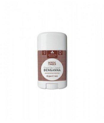 BEN&ANNA Naturalny Dezodorant na bazie Sody NORDIC TIMBER (sztyft plastikowy) 0% Aluminium 60g