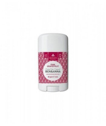 BEN&ANNA Naturalny Dezodorant na bazie Sody PINK GRAPEFRUIT (sztyft plastikowy) 0% Aluminium 60g