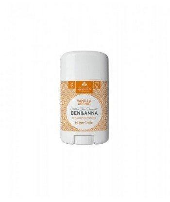 BEN&ANNA Naturalny Dezodorant na bazie Sody VANILLA ORCHID (sztyft plastikowy) 0% Aluminium 60g