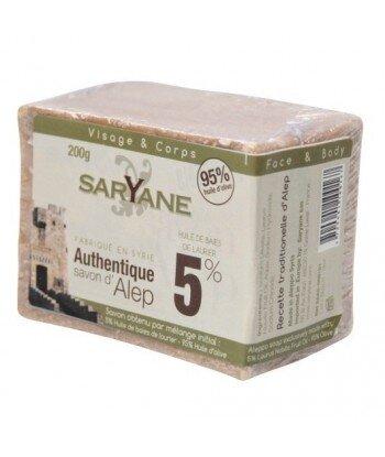 SARYANE Mydło z Aleppo 5% oleju laurowego 200 g
