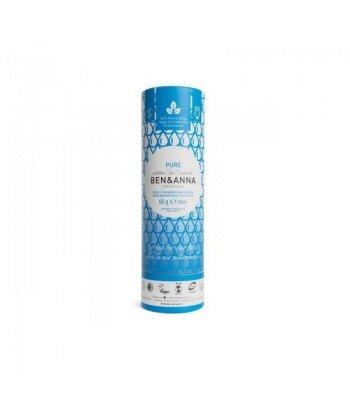 BEN&ANNA Naturalny Dezodorant na bazie Sody PURE BEZZAPACHOWY (sztyft kartonowy) 0% Aluminium 60g