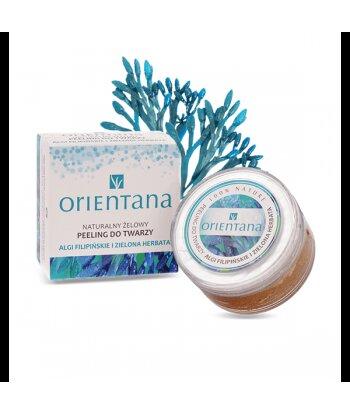 Orientana Żelowy peeling do twarzy - Algi filipińskie i zielona herbata 50 ml