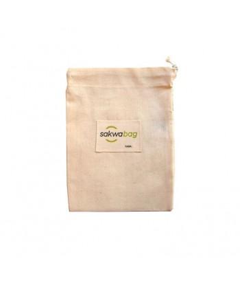 SAKWABAG Ekologiczny wielorazowy woreczek na produkty sypkie 100% bawełna organiczna 20x28cm