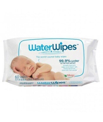 WATER WIPES Chusteczki nasączane czystą wodą NAJCZYSTSZE 60szt.