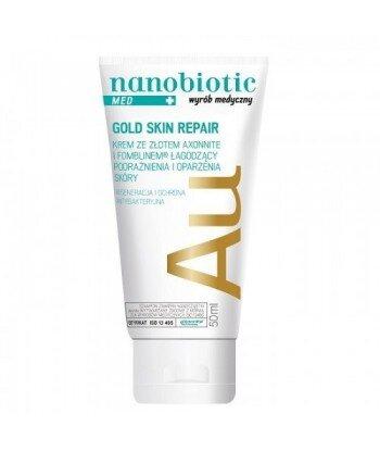 NANOBIOTIC Gold Skin Repair MED Krem ze złotem łagodzący podrażnienia i oparzenia skóry zapewniający regenerację i ochronę 50ml