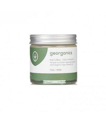 GEORGANICS Mineralna pasta do zębów w słoiku z kojącym olejem herbacianym TEA TREE 60ml