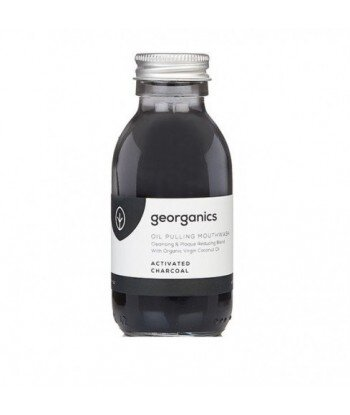 GEORGANICS Olej do płukania ust z łupiny orzecha kokosowego i mięty zielonej Activated Charcoal, 100 ml