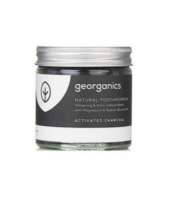 GEORGANICS Proszek do czyszczenia zębów, naturalny, nietoksyczny Activated Charcoal, 60 ml