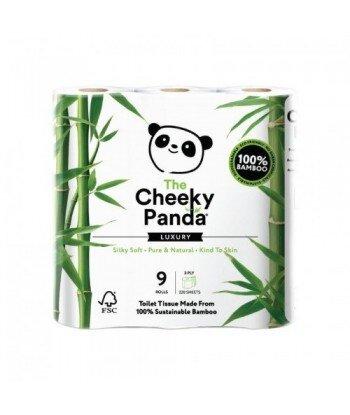 THE CHEEKY PANDA 100% Bambusowy Papier toaletowy trzywarstwowy - 9 rolek