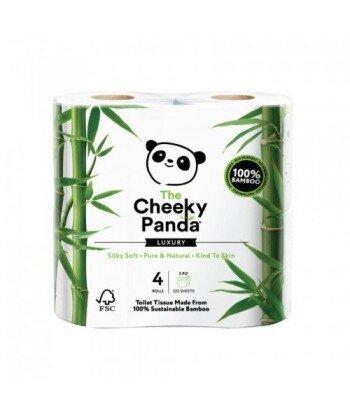 THE CHEEKY PANDA 100% Bambusowy Papier toaletowy trzywarstwowy - 4 rolki