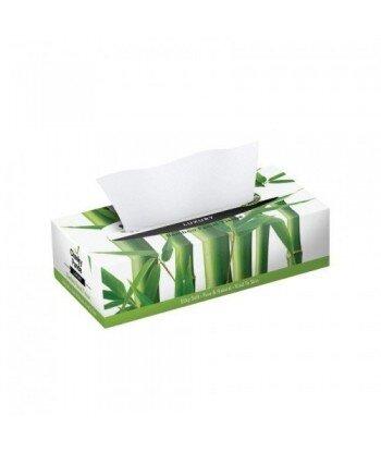 THE CHEEKY PANDA 100% Bambusowe Chusteczki do twarzy (uniwersalne) płaskie pudełko