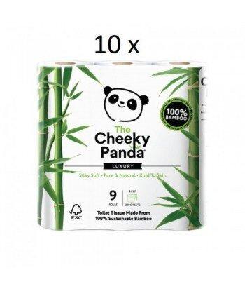 10 x THE CHEEKY PANDA 100% Bambusowy Papier toaletowy trzywarstwowy - 9 rolek