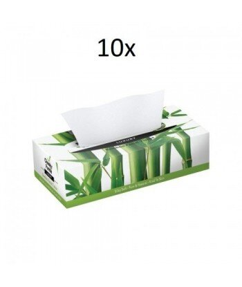 10 x THE CHEEKY PANDA 100% Bambusowe Chusteczki do twarzy (uniwersalne) płaskie pudełko