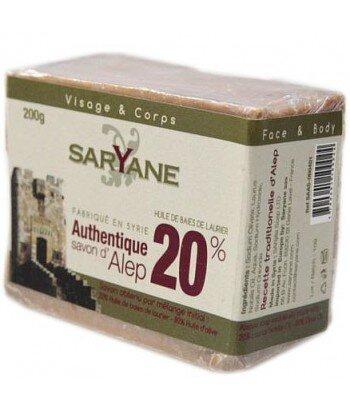 SARYANE Mydło z Aleppo 20% oleju laurowego 200 g
