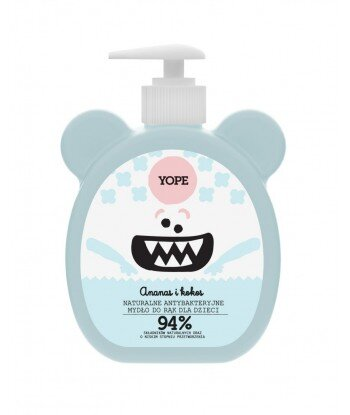 YOPE Naturalne antybakteryjne mydło do rąk dla dzieci ANANAS I KOKOS 400ml NOWOŚĆ!