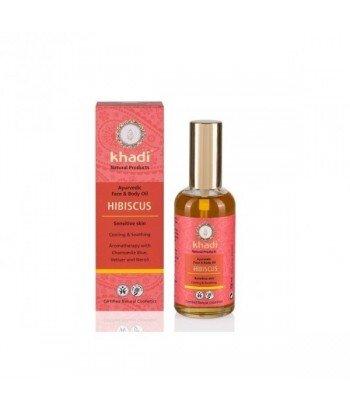 KHADI Ajurwedyjski olejek do twarzy i ciała z Hibiskusem 100ml