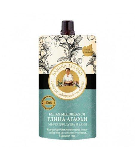 Bania Agafii - mydło do ciała i włosów - sauna i prysznic - biała glinka kamczatska, 100ml