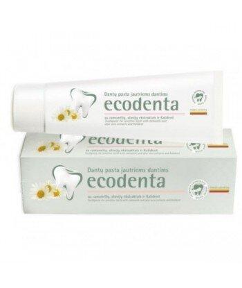 ECODENTA - PASTA DO ZĘBÓW WRAŻLIWYCH z rumiankiem, ekstraktem goździkowym i bioaktywnym wapniem, 100 ml