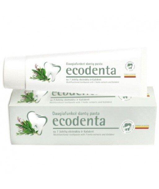 ECODENTA - PASTA DO ZĘBÓW - KOMPLEKSOWA PIELĘGNACJA z ekstraktami z 7 ziół i bioaktywnym wapniem, 100 ml
