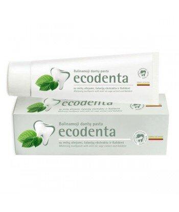 ECODENTA - PASTA DO ZĘBÓW WYBIELAJĄCA z olejkiem miętowym, esktraktem szałwiowym i bioaktywnym wapniem, 100 ml