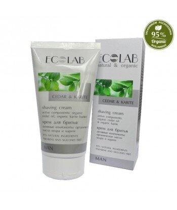 Krem do golenia - organiczny olej cedrowy, organiczne masło shea, aloes, 150ml - EC Lab MAN