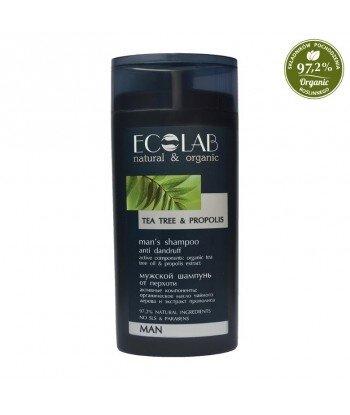 Szampon przeciwłupieżowy - żeń szeń, organiczny olej z drzewa herbacianego, ekstrakt propolisu, pirytionian cynku, 250ml - EC La