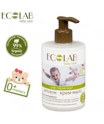 Krem-mydło dla dzieci od 0+ (bez silikonów, parabenów, barwników, syntetycznych konserwantów), 300ml - EC Lab Baby Care