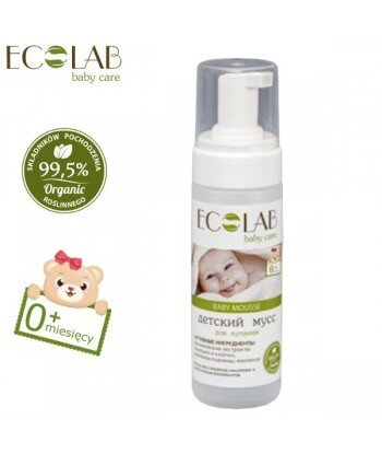 Mus do kąpieli dla dzieci od 0+ (bez silikonów, parabenów, barwników, syntetycznych konserwantów), 150ml - EC Lab Baby Care