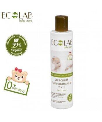 Żel pod prysznic & szampon do włosów dla dzieci od 0+ bez łez (bez silikonów, parabenów, barwników, syntetycznych konserwantów),
