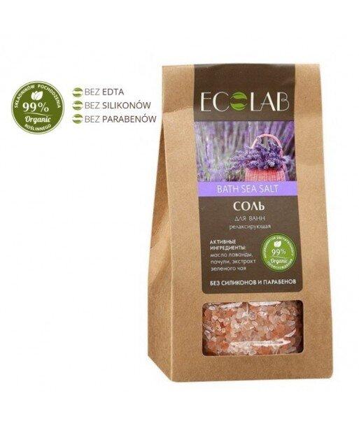 Sól Do Kąpieli relaksująca - organiczny ekstrakt zielonej herbaty, olejek lawendowy, olej z paczuli, 400g