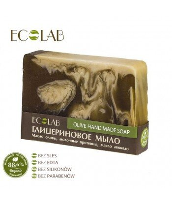 Naturalne mydło glicerynowe - ręcznie robione - Oliwkowe, 130g