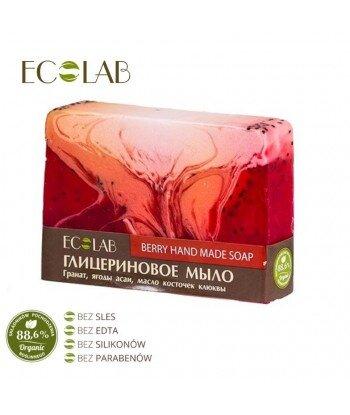 Naturalne mydło glicerynowe - ręcznie robione - Jagodowe, 130g