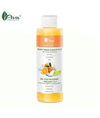 Żel pod prysznic + balsam 2w1 z naturalnym olejkiem pomarańczowym - AVA