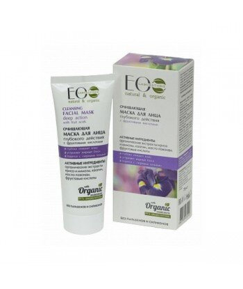 Głęboko oczyszczająca maseczka do twarzy z kwasami owocowymi, 75 ml - EO LABORATORIE