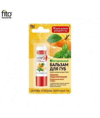 Naturalny balsam do ust MIĘTOWO-POMARAŃCZOWY FRESH, 4,5g