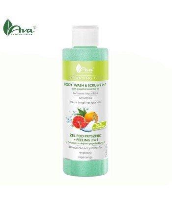 Żel pod prysznic + peeling 2w1 z naturalnym olejkiem grapefruitowym - AVA