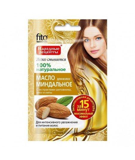 Olejek migdałowy - intensywne nawilżenie i odżywienie włosów, 20ml