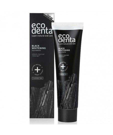 ECODENTA - PASTA DO ZĘBÓW EXTRA BLACK WYBIELAJĄCA z węglem drzewnym i TEAVIGO, 100 ml
