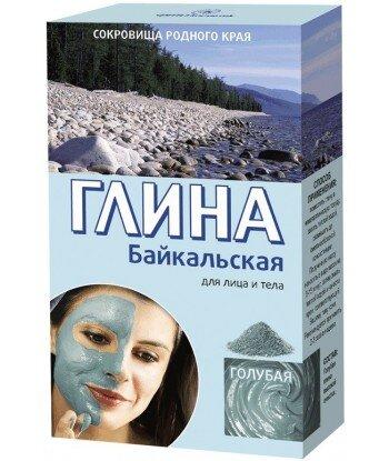 Bajkalska Glinka Błękitna Peelingująca - 100% naturalna - 100g