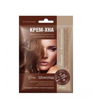 Kremowa henna irańska - czekolada - naturalna z olejami