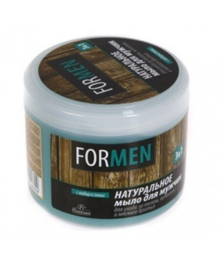 """Floresan - naturalne mydło dla mężczyzn do pielęgnacji ciała, włosów i golenia """"3 w 1"""" - zielona herbata, nagietek, rumianek, a"""