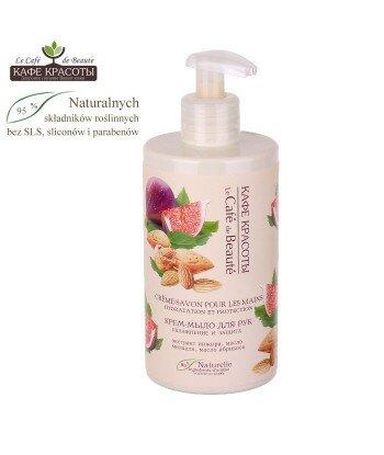 Kremowe mydło w płynie do rąk - Nawilżenie i ochrona z ekstraktem figi i olejem ze słodkich migdałów, 460ml