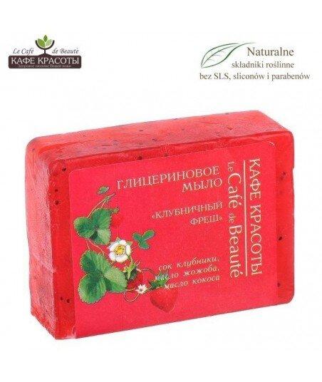 Mydło glicerynowe - ręcznie robione - Truskawkowa świeżość, 100g