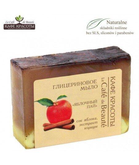 Mydło glicerynowe - ręcznie robione - Jabłkowa szarlotka, 100g