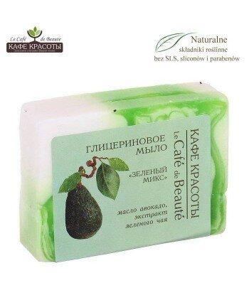 Mydło glicerynowe - ręcznie robione - Zielony mix, 100g